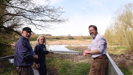 Greenways Countryside Project manager James Brown, right, with volunteers Colin Hullis and Margaret
