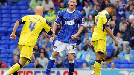 Tommy Smith, pictured on his Ipswich Town debut against Preston at Portman Road in August 2008. Pict