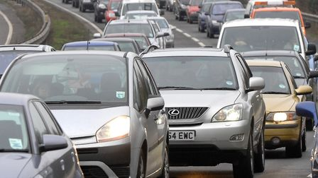 There was slow traffic on the A12 southbound at Colchester following a collision this morning (stock