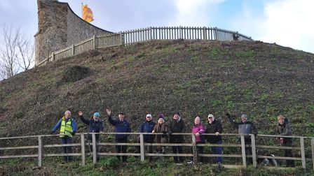 Walkers celebrate Clare's accreditation in the national Walkers are Welcome scheme with a stroll up