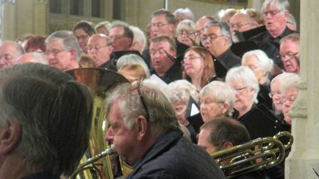 The Bury Bach Choir, with the Nayland Choir and the Prometheus Orchestra, conducted by Philip Reed p