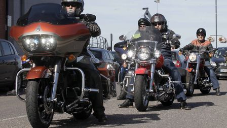Annual Motorcycle run from Ford Dunton to Harwich.¸ Essex Air Ambulance fundraiser of the year,