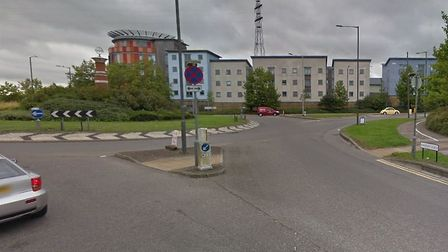 The drugs were allegedly bought near a roundabout near Hawkins Road, Colchester. Picture: GOOGLE MAP