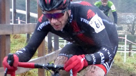 Senior Men's winner Stephen James on his way to victory at the Iceni Velo cyclo-cross. Picture: FERG