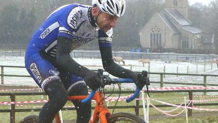Nick Cook of Ipswich BC in action at the Iceni Velo cyclo-cross. Picture: FERGUS MUIR
