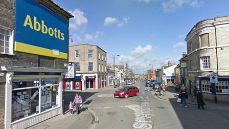 Daryl Tyler was stopped by police in St Andrew's Street, Bury St Edmunds. Picture: GOOGLE MAPS