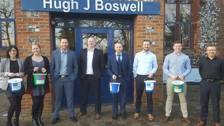 The team from Hugh J Boswell who are all in training for this year�'s Battle of the Knights challeng