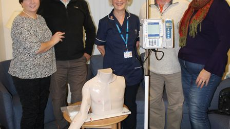 Pictured at the West Suffolk Hospital with the equipment they have helped to purchase are, left to r