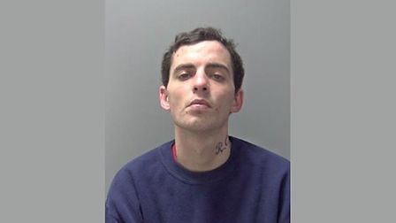 Patrick Crow, who has been jailed following a series of shoplifting offences. Picture: SUFFOLK POLIC