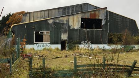 The former Thurleston Cricket Centre has been vandalised over the years. Picture: LNT Construction