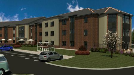 Architects' impression of the new care home that could be built on the site of the Thurleston Cricke