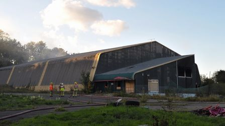 Firefighters at the former Thurleston Cricket Centre in 2015 after a blaze at the site.
