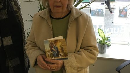 Brenda Farrow with the Christmas card she received on Monday which was post dated December 2015.