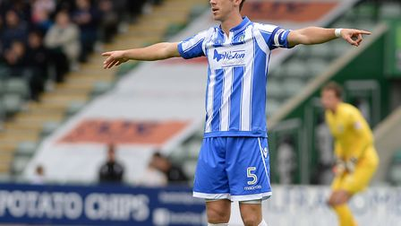 Luke Prosser, pictured during his last league start, at Plymouth on October 29,. 2016. He could star