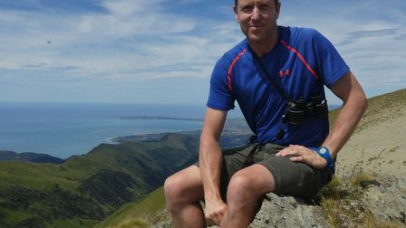 High up in the mountains of New Zealand, Richard Cuthbert takes time out from his conservation proje