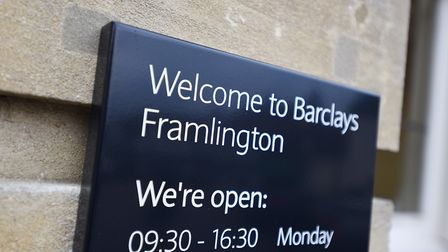 Barclays said it would be replacing the sign. Picture: GREGG BROWN