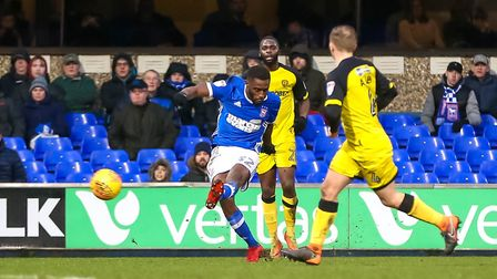 Mustapha Carayol had an impact when stepping off the bench for his Town debut. Photo: Steve Waller