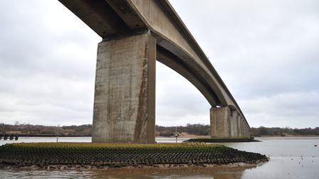 Resurfacing work to the concrete carriageway between the Orwell Bridge and Levington will continue.