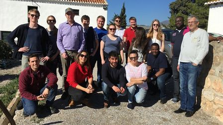 Writtle horticulture students on a study tour in Almeria in Spain. Picture: WRITTLE UNIVERSITY COLLE
