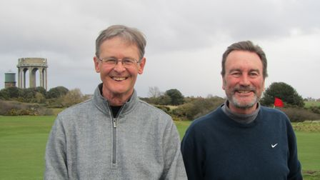 Glen Davis (left) and Gary Howard of Felixstowe Ferry who won the Suffolk Winter Alliance prize at S