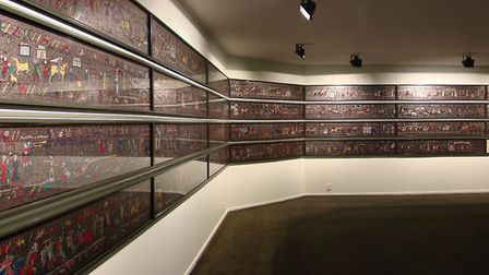 The mosaic on display. Picture: MICHAEL LINTON
