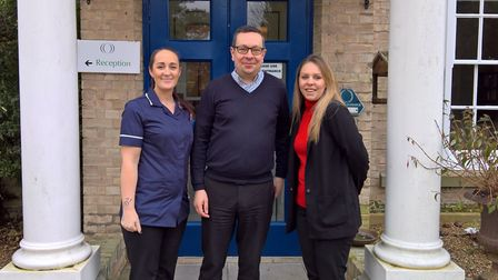 New manager at Fornham House Stuart Coleman, with Clare Pethick, deputy manager, (left) and Samantha