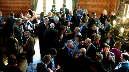A previous Coffee Means Business networking event at Seckford Hall.