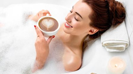 Except for the age of the model, the cup of coffee, the candles and the bath, this could be Lynne ge
