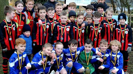 """The Bury St Edmunds and District Primary Football League """"Champion's League"""" finals held at Howard P"""