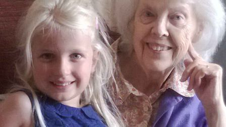 Ellie pictured with her great-grandmother Ellen Ward. Picture: FAMILY