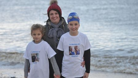 Cath Bright, pictured with her daughters Lucy and Ellie, said she is very proud. Picture: SARAH LUC