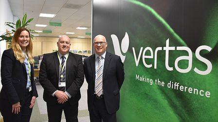 Wendy Quantrill, Adrian Glasgow and Keith Buet of Vertas. Picture: EMMA SQUIRES