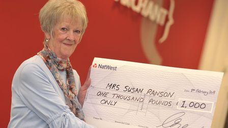 Susan Ranson, winner of the Ipswich Star's �1,000 prize. Picture: SARAH LUCY BROWN