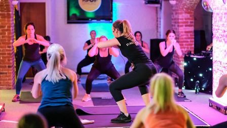 One of the classes organised by The Pop Up Gym last November at the crypt at St Edmunds Church. Pict