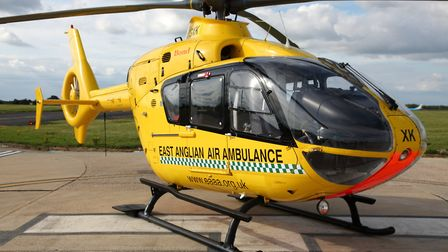 The East Anglian Air Ambulance also attended the scene. Picture: CONTRIBUTED