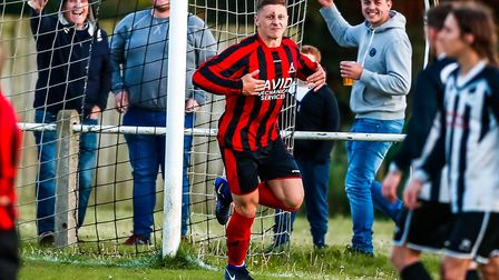 Liam Hillyard was on target for Achilles in their big win over Felixstowe Harpers in the Suffolk Sen