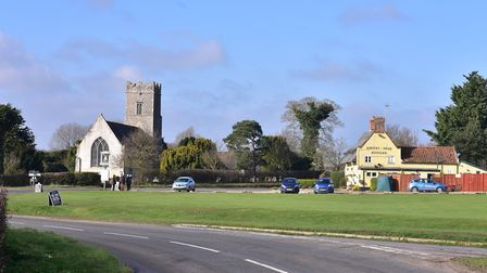 The accident happened in Blyford, near Halesworth. Picture: ARCHANT LIBRARY
