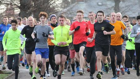 They are off and running in Castle Park, Colchester, for Saturday's latest parkrun, held over 5K. L