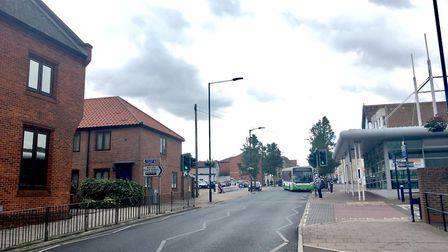 The incident happened in St Andrew's Street North, Bury St Edmunds. Picture: MATT REASON