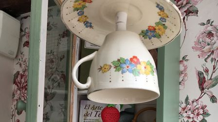 Curiouser and curiouser - the upside down tea cups light shades and the stunning decor of Cardoman T