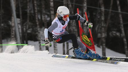 Tilly Black takes a turn in the English Alpine Championships. Picture: RACER READY