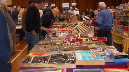 Old model railways, diecast cars, buses, and lorries, plus toys, railway and transport books and pho