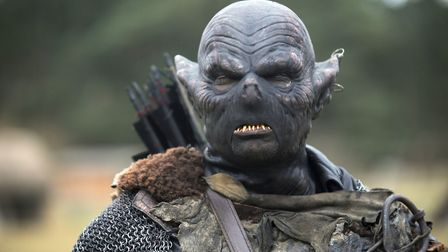 The Ring Quest event at West Stow Anglo Saxon Village. Lance Alexander is dressed as an Orc. Picture