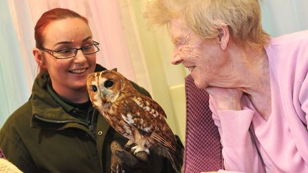 Residents at Cedrus House care home in Stowmarket took part in the RSPB's Big Garden Bird Watch. Pic