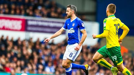 Cole Skuse on the ball against Norwich when the two sides met earlier in the season. PICTURE: STE