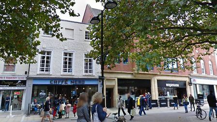 Caffe Nero and Wagamama in Peterborough. The buildings are owned by Mid Suffolk and Babergh councils