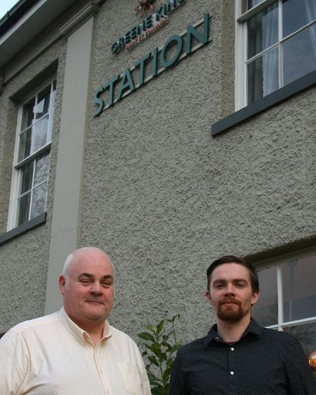 Sean Driscoll (left) and James Pope. Picture: GREENE KING