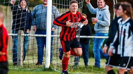 Achilles striker Liam Hillyard - his team can go eight points clear at the top of the SIL Senior Div