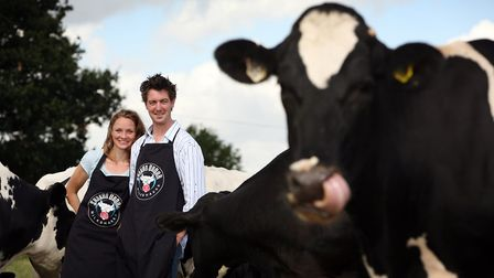 Husband-and-wife team Jodie Farran and Andrew Howie of Shaken Udder at Tolleshunt Major, near Witha