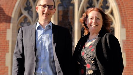 Bruce Leeke and Alison Wheeler MBE. Picture: SARAH LUCY BROWN